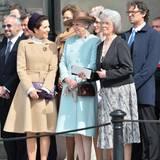 30. April 2016  Prinzessin Mary von Dänemark im Gespräch mit Prinzessin Christina.