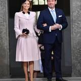 30. April 2016: Te Deum  Prinzessin Madeleine am Arm ihres Mannes Chris O'Neill