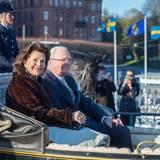 29. April 2016  Das Königspaar auf dem Weg ins Nordische Museum.