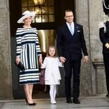 30. April 2016: Te Deum  Prinzessin Victoria mit Prinz Daniel und Prinzessin Estelle