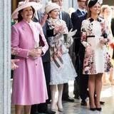 30. April 2016: Rathaus-Lunch  Königin Silvia und Prinzessin Madeleine mit Islands Präsident Ólafur Ragnar Grímsson.