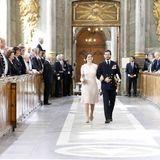 30. April 2016: Te Deum  Prinzessin Sofia und Prinz Carl Philip beim Gang durch die Kirche.