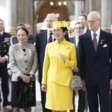 30. April 2016: Te Deum  Prinzessin Takamado von Japan, dahinter Ex-König Simeon von Bulgarien