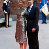 30. April 2016: Rathaus-Lunch  Prinzessin Märtha-Louise von Norwegen und ihr Mann Ari Behn auf dem Weg roten Teppich.