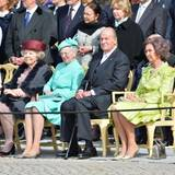 30. April 2016  Prinzessin Beatrix, Königin Margrethe, König Juan Carlos und Königin Sofia