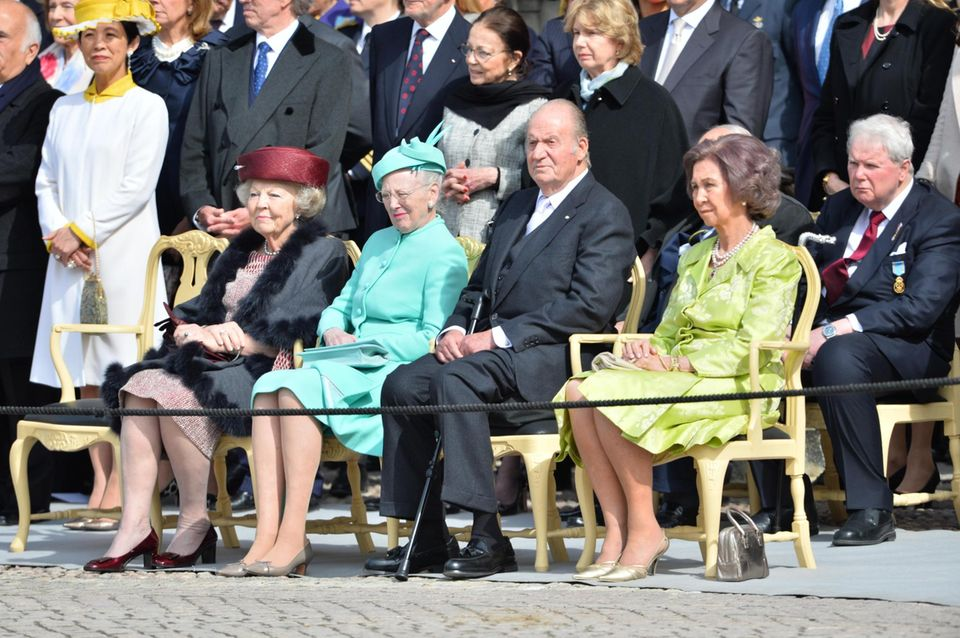30. April 2016  Prinzessin Beatrix, Königin Margrethe, König Juan Carlos und Königin Sofia