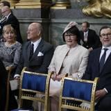 30. April 2016: Te Deum  Prinz Daniels Eltern, Ewa und Olle Westling.