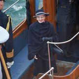 An Bord ist die dänische Königin Margrethe, die an den Feierlichkeiten am Wochenende teilnehmen wird.