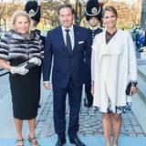 29. April 2016  Prinzessin Madeleine mit Ehemann Chris O'Neill und dessen Mutter Eva Maria