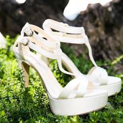 Hoch hinaus: Diese traumhaft schönen High Heels sind extra für Eva Longorias Hocheit angefertigt worden.