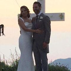 Auch wenn es etwas verschwommen ist, sehen die frischvermählten Eva Longoria und Jose Baston einfach nur glücklich aus.