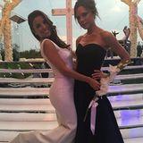 """Stolz postet Victoria Beckham ein Foto mit der Braut, deren Kleid sie designt hat. """"Ich fühl mich geehrt, deine Freundin zu sein"""", schreibt Posh zu dem Bild."""