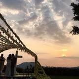 """""""Die schönste Hochzeit, die man sich wünschen kann"""": David Beckham teilt eine Aufnahme der romantischen Zeremonie unter freiem Himmel."""