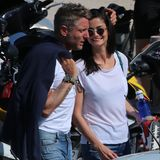 Shermine Shahrivar und der Fiat-Erbe Lapo Elkann verbringen den Tag turtelnd auf Ibiza.