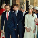 Herzogin Catherines Geschwister nehmen 2013 an der Taufe von Prinz George teil.
