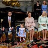 Ein Blick auf die Paten - und Prinzessin Leonore, die neben Mama Madeleine sitzen darf.