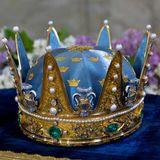 Taufe in Schweden: Auf Samt gebettet liegt die Prins-Wilhelm-Krone bereit.