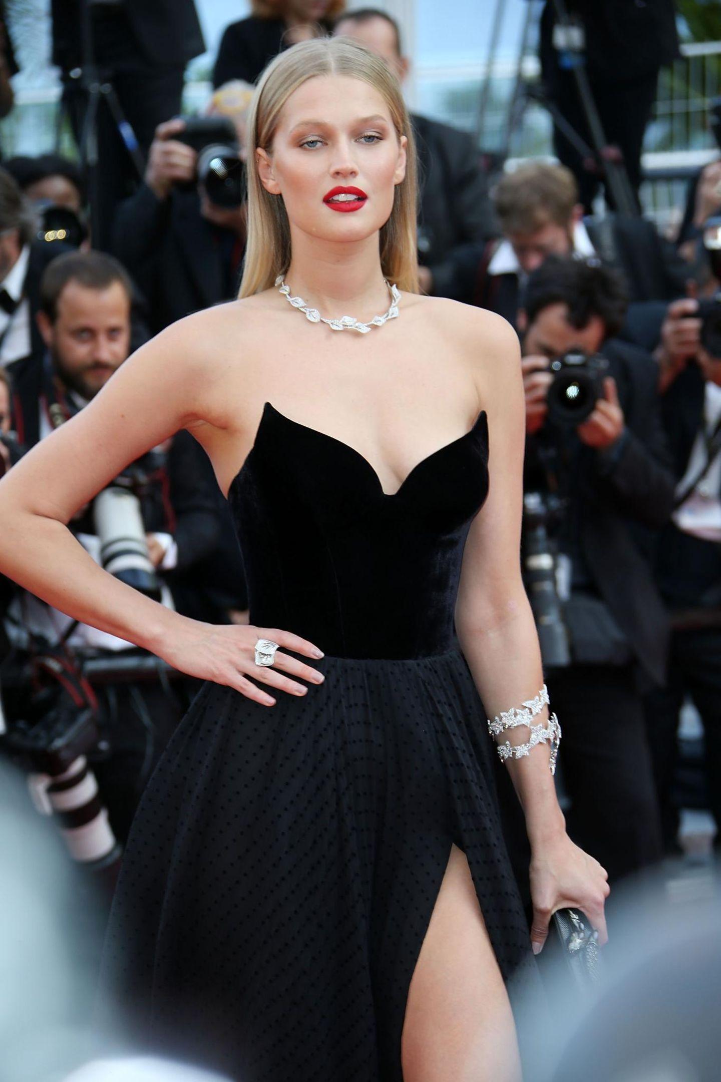 Auch Toni Garrn, das deutsche Supermodel, besucht die Filmfestspiele in Cannes.