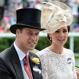 Der Moment, auf den alle gewartet haben: Herzogin Catherine gibt an der Seite von Prinz William endlich ihr Debüt beim Pferderenn in Ascot.