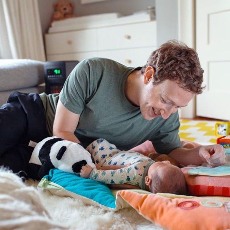 Mit diesem Bild wünscht Neu-Papa Mark Zuckerberg der Facebook-Gemeinde einen tollen Vatertag.