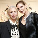 """Fashiontalk zwischen Vogue-Chefredakteurin Christiane Arp und Nineties-Modelikone Nadja Auermann beim """"Grand Opening""""."""
