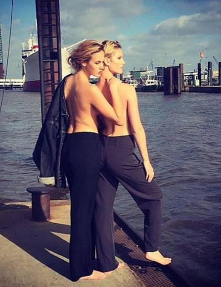 """Vorfreude auf Model-WG und Fashion Week: """"Ich freue mich schon mega auf morgen"""", schreibt Kim zu diesem Bild mit Elena. """"@elenacarriere.official kommt zu mir und wir sind abends im #breeze in Frankfurt auf einer Veranstaltung. Freitag früh geht's dann direkt nach Berlin, wo wir während der Fashionweek bei meiner Schwester @werdernina wohnen und Berlin ordentlich auf den Kopf stellen werden. Viele der anderen GNTM-Mädels werden auch da sein."""""""