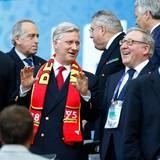 König Philippe von Belgien unterstützt seine Mannschaft im Stadion von Bordeaux. Die Belgier gewinnen mit 3:0 gegen das Team aus Irland.
