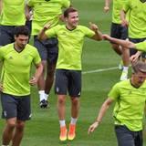 Mario Götze macht sich fit für da Achtelfinale am Sonntag