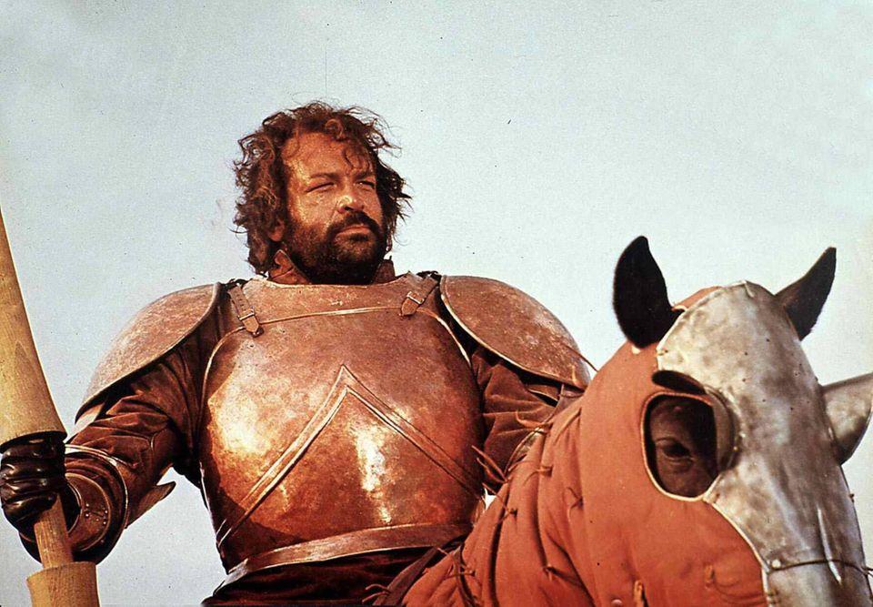 """1975  In """"Hector, der Ritter ohne Furcht und Tadel"""" tritt Bud Spencer als ein starker, italienischer Söldner auf."""