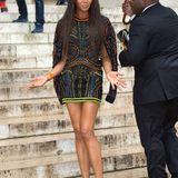 Für den Regen in Paris kann Naomi Campbell schließlich auch nichts.