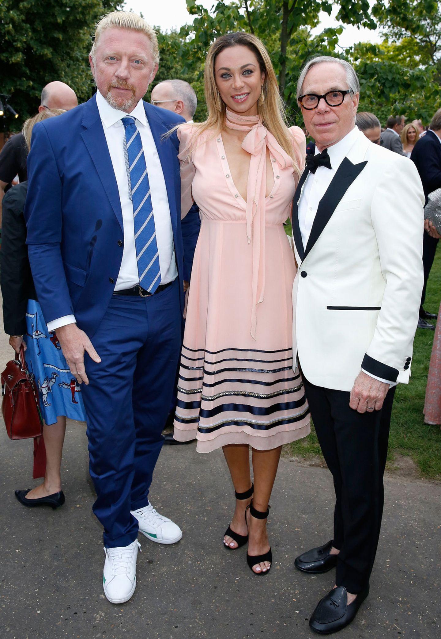 Boris und Lilly Becker mit Tommy Hilfiger
