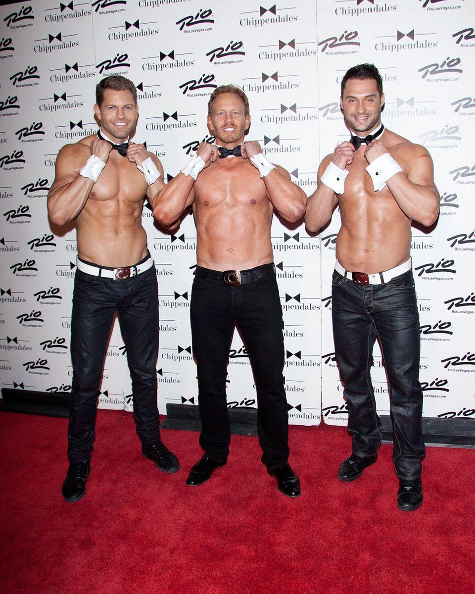 """Heute geht Ian Ziering etwas andere Wege: Der Star aus """"Beverly Hills, 90210"""" strippt für die Gruppe Chippendales."""