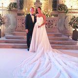 Bastian Schweinsteiger und Ana Ivanovic als Brautpaar.