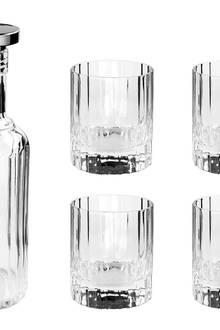 """Kristallklar: Zum Whiskyset """"Emperial"""" gehören eine Karaffe und vier Kristallgläser (Fink Living, ca. 80 Euro)"""