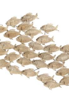 Schwärmerei: Dekofische aus Eisen als Wandschmuck (MiaVilla, ca. 60 Euro)