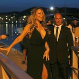 Superstar Mariah Carey lässt als richtige Diva natürlich auf sich warten und besucht Leos Charity-Event erst am späten Abend.