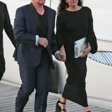 Etwas müde wirkten U2-Frontmann Bono und seine Frau Ali Newson.