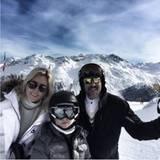 """Urlaub in St. Moritz: """"Großartiger Tag"""" vermerkt Marie-Chantal zu dem Bild, das sie im Ski-Outfit auf der Piste zeigt."""