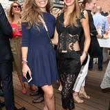 """Die """"Let's Dance""""-Teilnehmerinnen Victoria Swarovski und Alessandra Meyer-Wölden genossen das Wiedersehen bei besten Sommerwetter."""