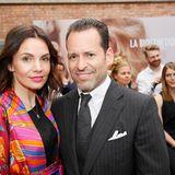 Schauspielerin Nadine Warmuth und Jean-Marc Weiser (La Biosthétique) genossen den Berliner Sommertag.