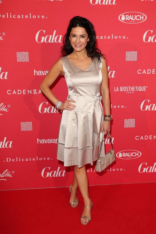 Schauspielerin Mariella Ahrens feierte den Abschluss der Fashion Week im Hotel Ellington.