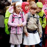 Prinzessin Ingrid Alexandra hat ihren ersten Schultag am 19. August 2010 in der Jansløkka Skole in Asker.