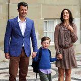 Vor Schloss Amalienborg in Kopenhagen kann es Prinz Christian kaum abwarten: Er startet 2011 in der Vorschulklasse der Tranegårdsskolen.