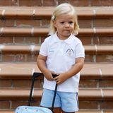 Was Prinzessin Sofia wohl in ihrem Hello-Kitty-Köfferchen mit in den Kindergarten nimmt? Die blondgelockte Tochter von Prinzessin Letizia und Prinz Felipe hat ihren ersten Tag 2009.