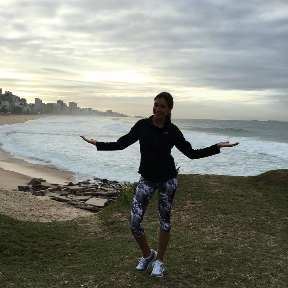 Welcome to Rio! Die Olympischen Spiele können beginnen! - kommentiert Jana Ina Zarrella ihr Foto.