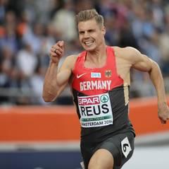 Julian Reus -   Sportart: Leichtathletik, Disziplin 100 m und 4 x 100 m  Sein Ziel bei der Olympia ist es, unter 10 Sekunden die 100 Meter zu laufen. Wir drücken ihm die Daumen.