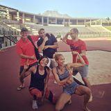 Alexandra Wester trainiert mit ihrem Team für die Olympia in Rio.