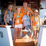 14. August 2016  Königin Máxima und König Willem-Alexander haben auch ihre drei Töchter mit zu den Spielen nach Rio genommen.