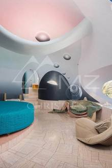 Schlafen unterm Sternenhimmel kann man in einem der zehn Schlafzimmer des luxuriösen Hauses.
