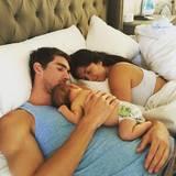 Michael Phelps mit Ehefrau Nicole und Sohn Boomer
